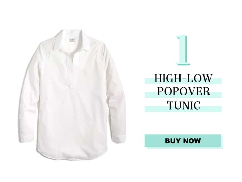 J. Crew High Low Popover Tunic