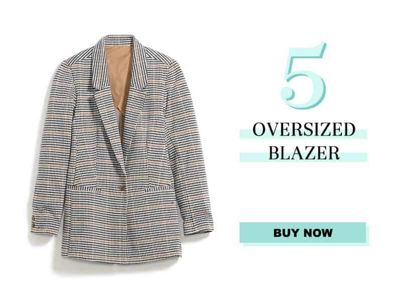 Old Navy Houdstooth Oversized Blazer