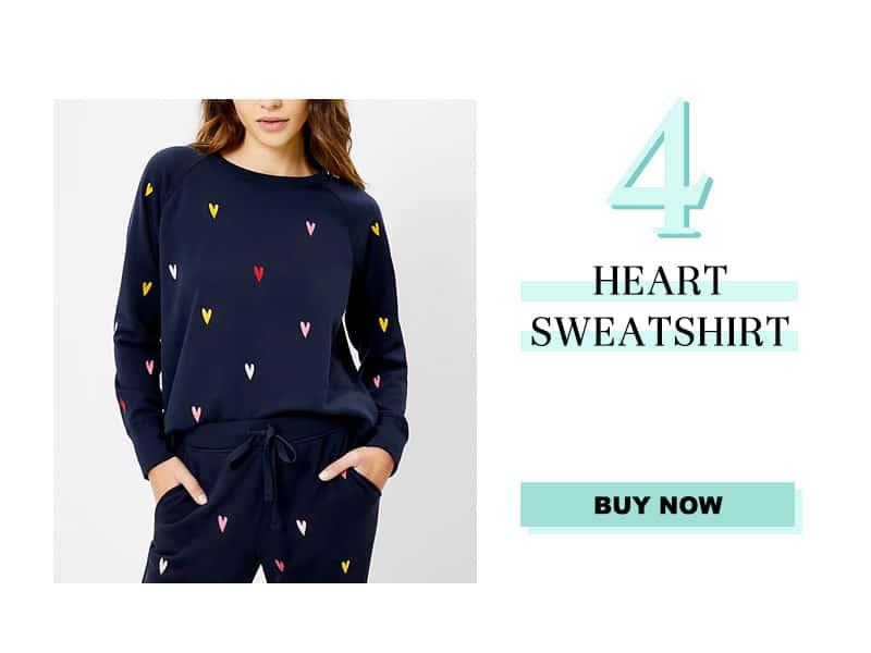 Heart Sweatshirt from LOFT