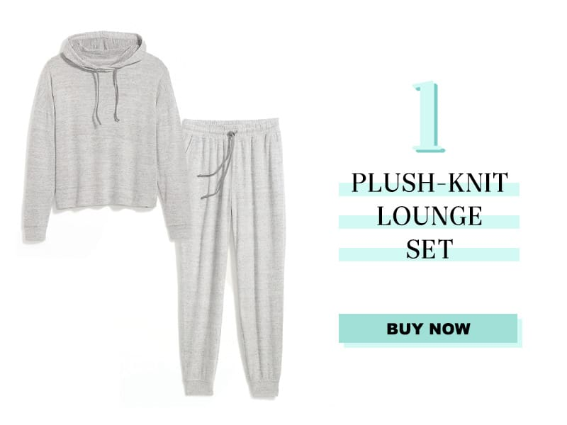 Plush knit Lounge set in grey
