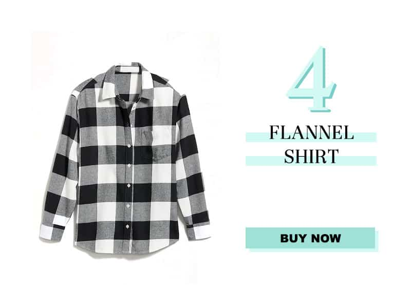 Flannel Shirt in black and white
