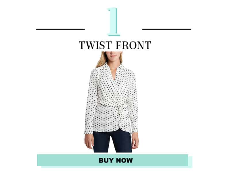 Twist Front Shirt from Vince Camuto