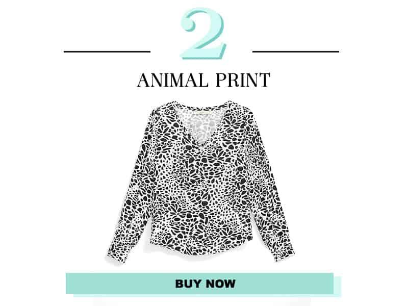 Animal Print Shirt from LOFT