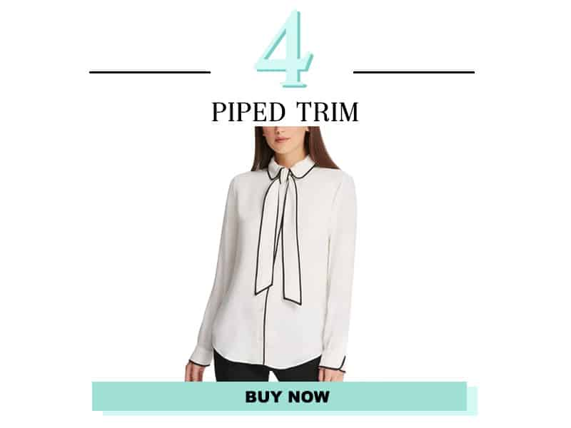Piped Trim Blouse