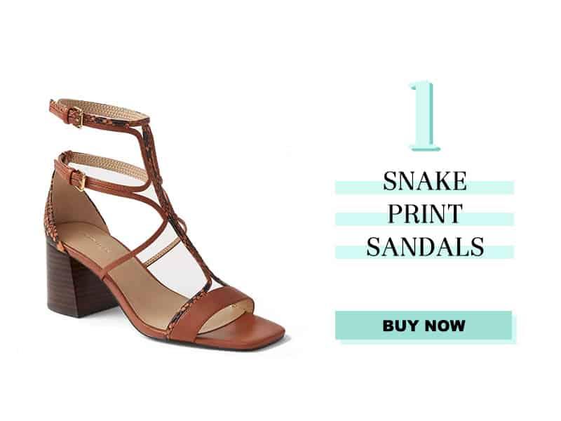 Ann Taylor Snake Print Sandals