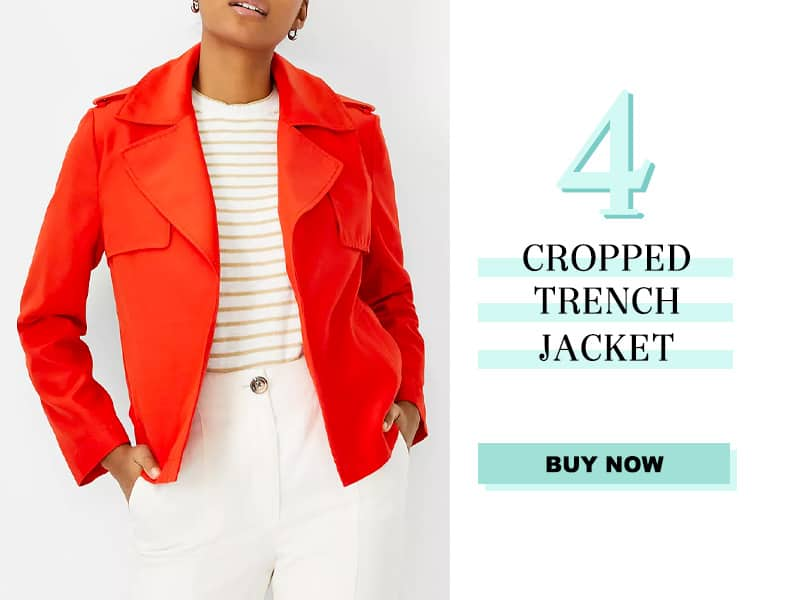 Ann Taylor Cropped Trench Coat