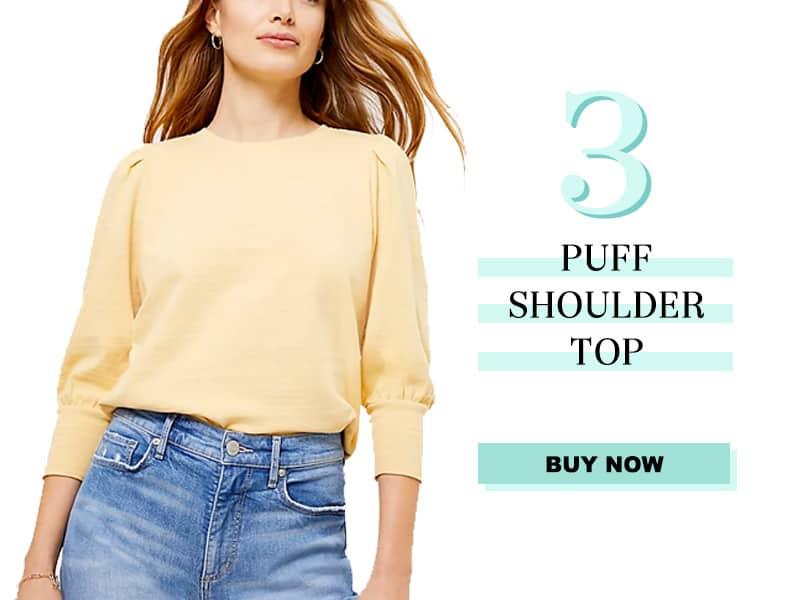 LOFT Puff Shoulder Top