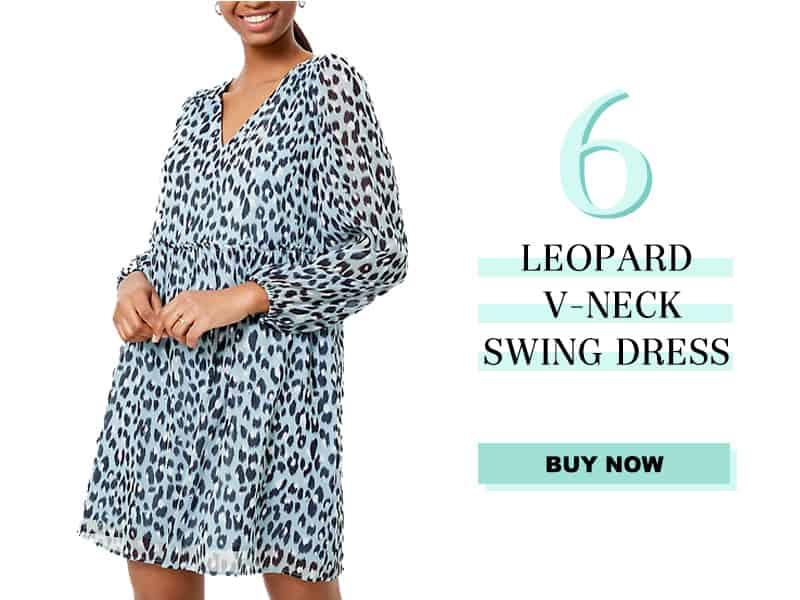 LOFT Leopard Swing Dress