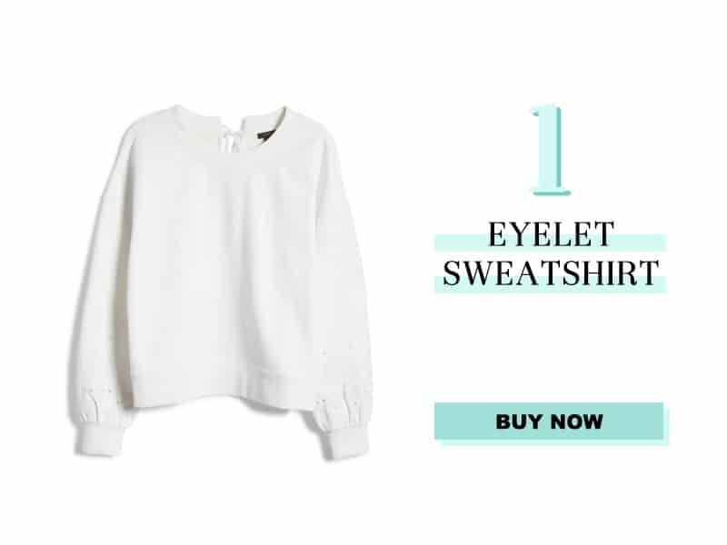 Nordstrom Eyelet Sweatshirt