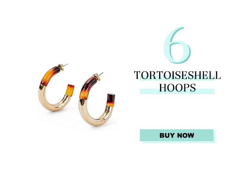 Nordstrom Toirtoiseshell Hoop Earrings