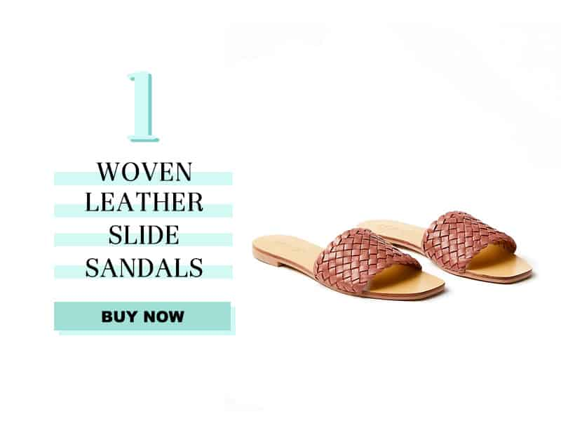 LOFT woven slide sandals