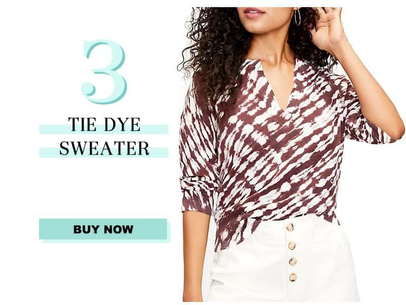 LOFT Tie Dye Sweater