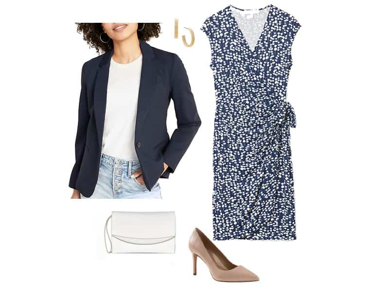 How to Style a Navy Blazer
