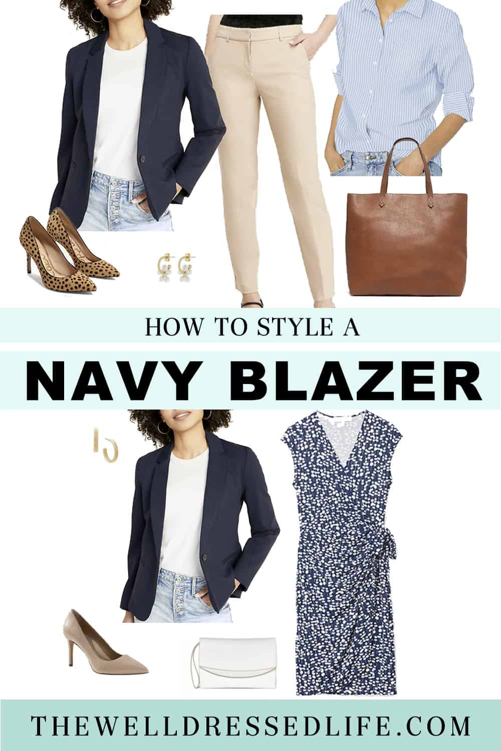 How to Style A Navy Blazer for Spring