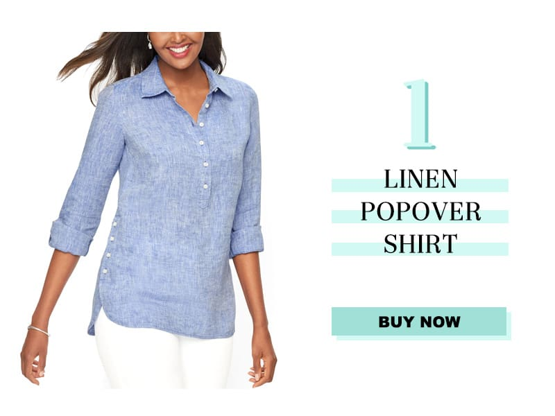 Talbots Linen Popover Shirt