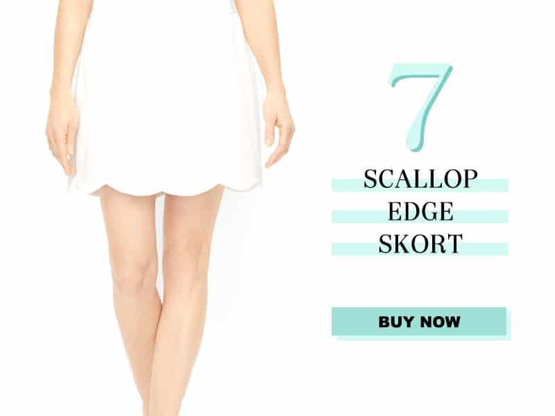 Talbots Scallop Edge Skort