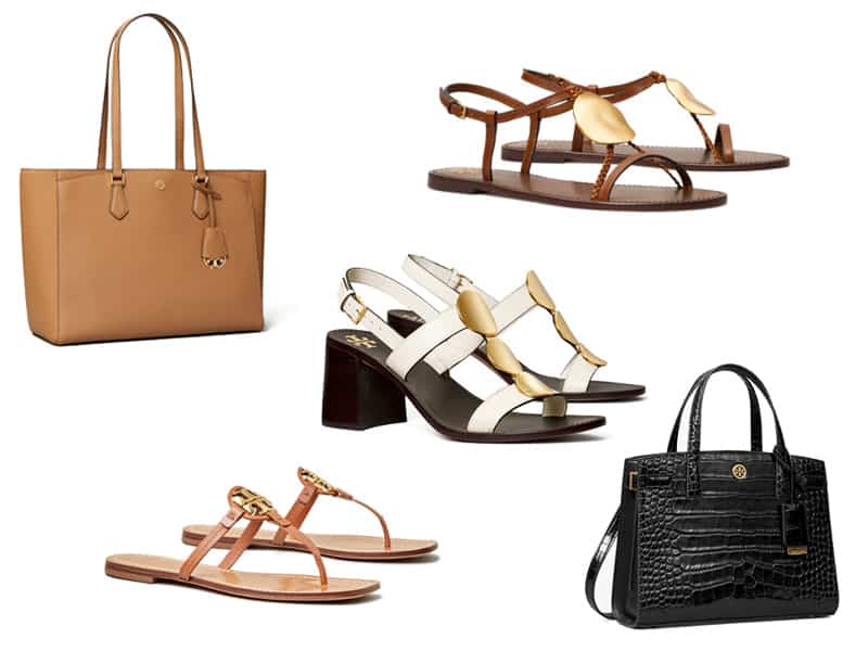 Shoes and bags from Tory Burch