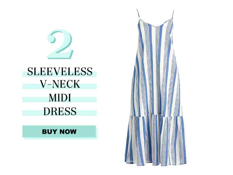 J.Crew Factory Sleeveless V-neck midi dress