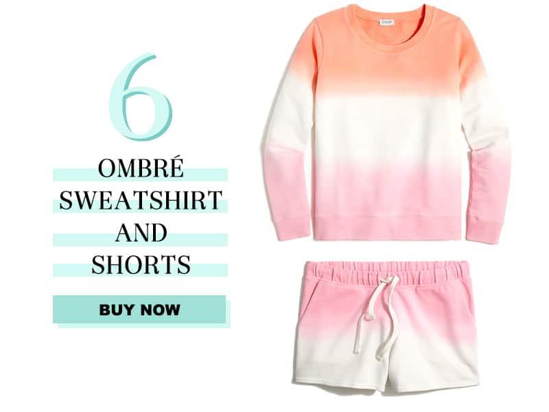 J.Crew Factory Ombré crewneck sweatshirt
