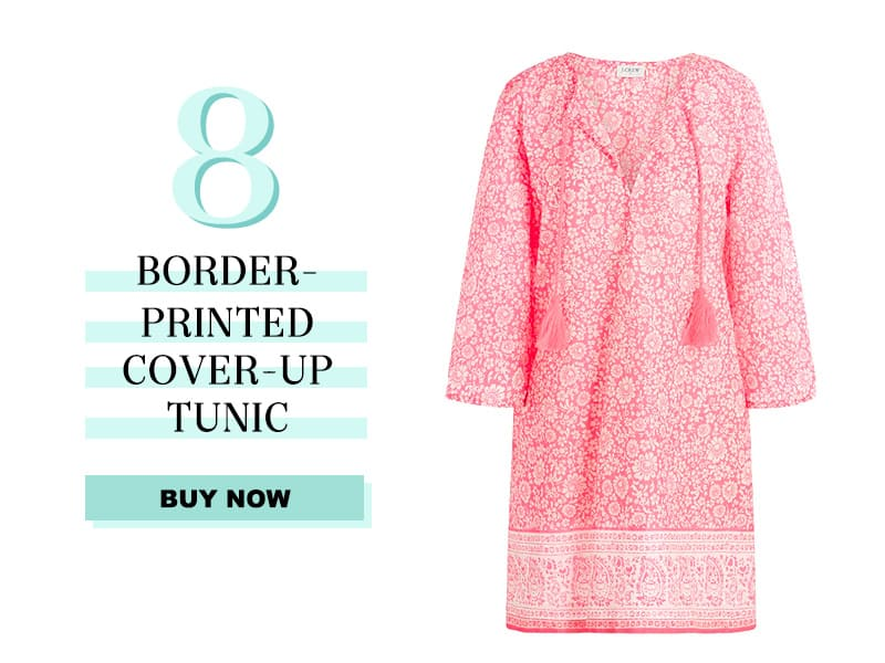 J.Crew Factory Border-printed cover-up tunic