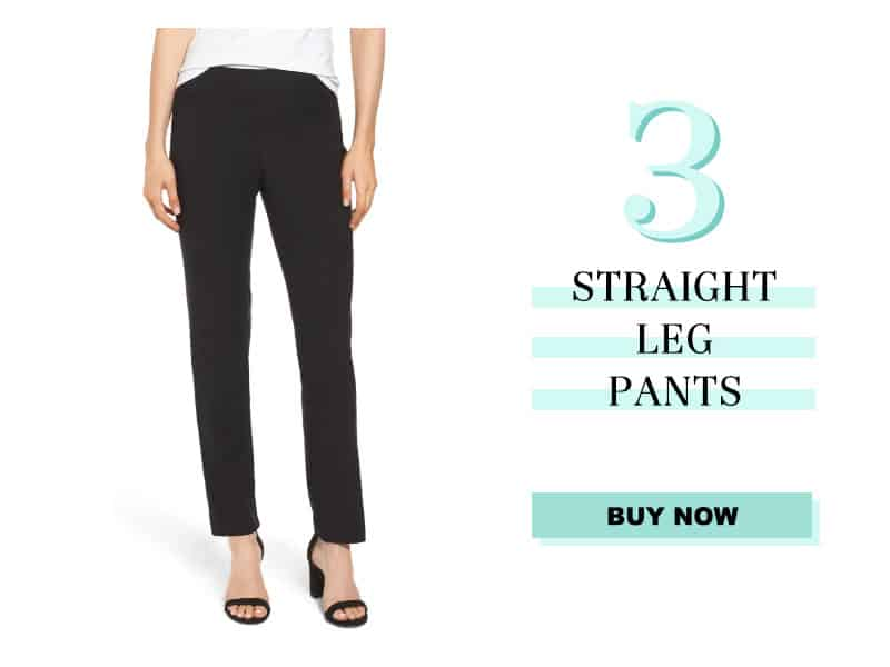 Nic+Zoe straight leg pants in black