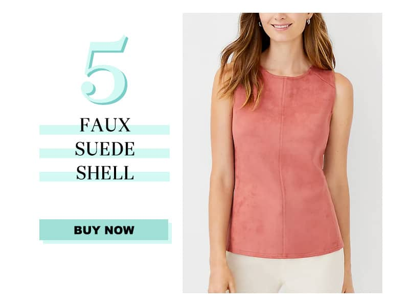 Ann Taylor Faux Suede Shell