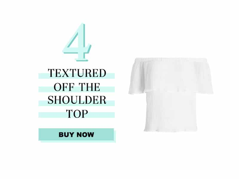 Express Textured off the shoulder top