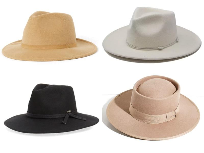 Four Felt Hats