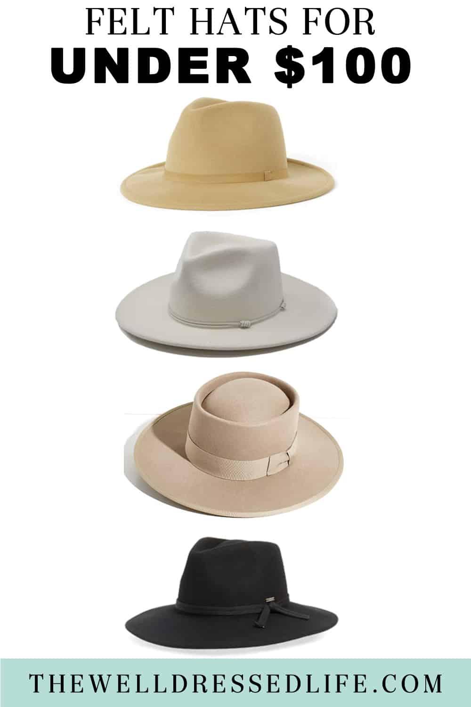 Felt Hats for Under $100