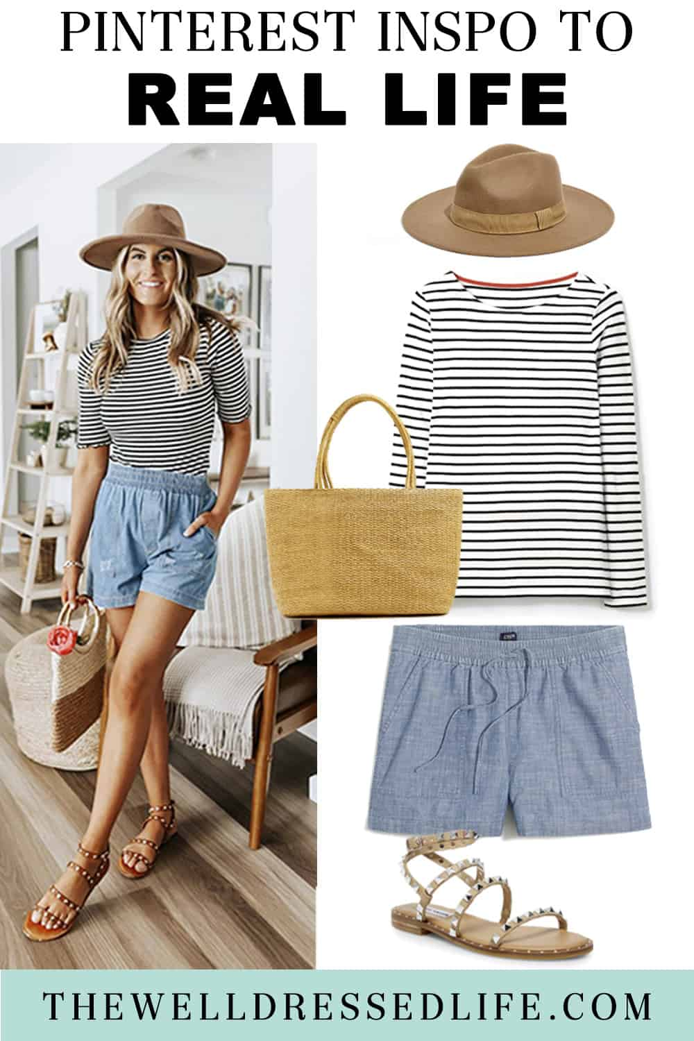 Pinterest in Real Life: Making Shorts an Outfit