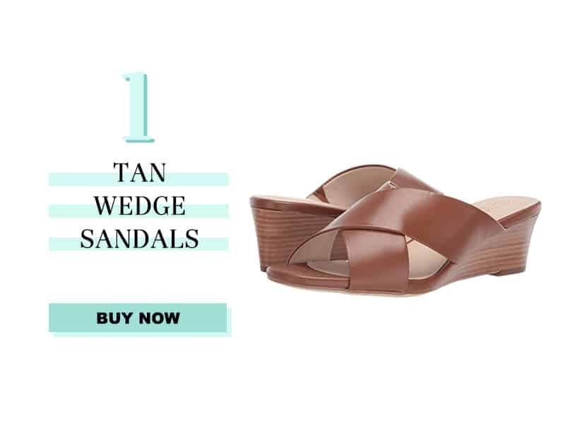 Cole Haan Tan Wedge Sandals