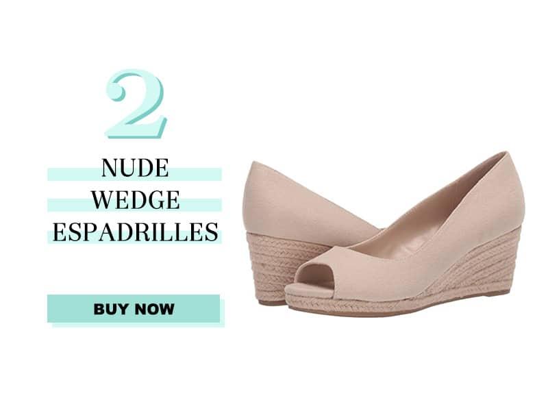 Nude Wedge Espadrilles