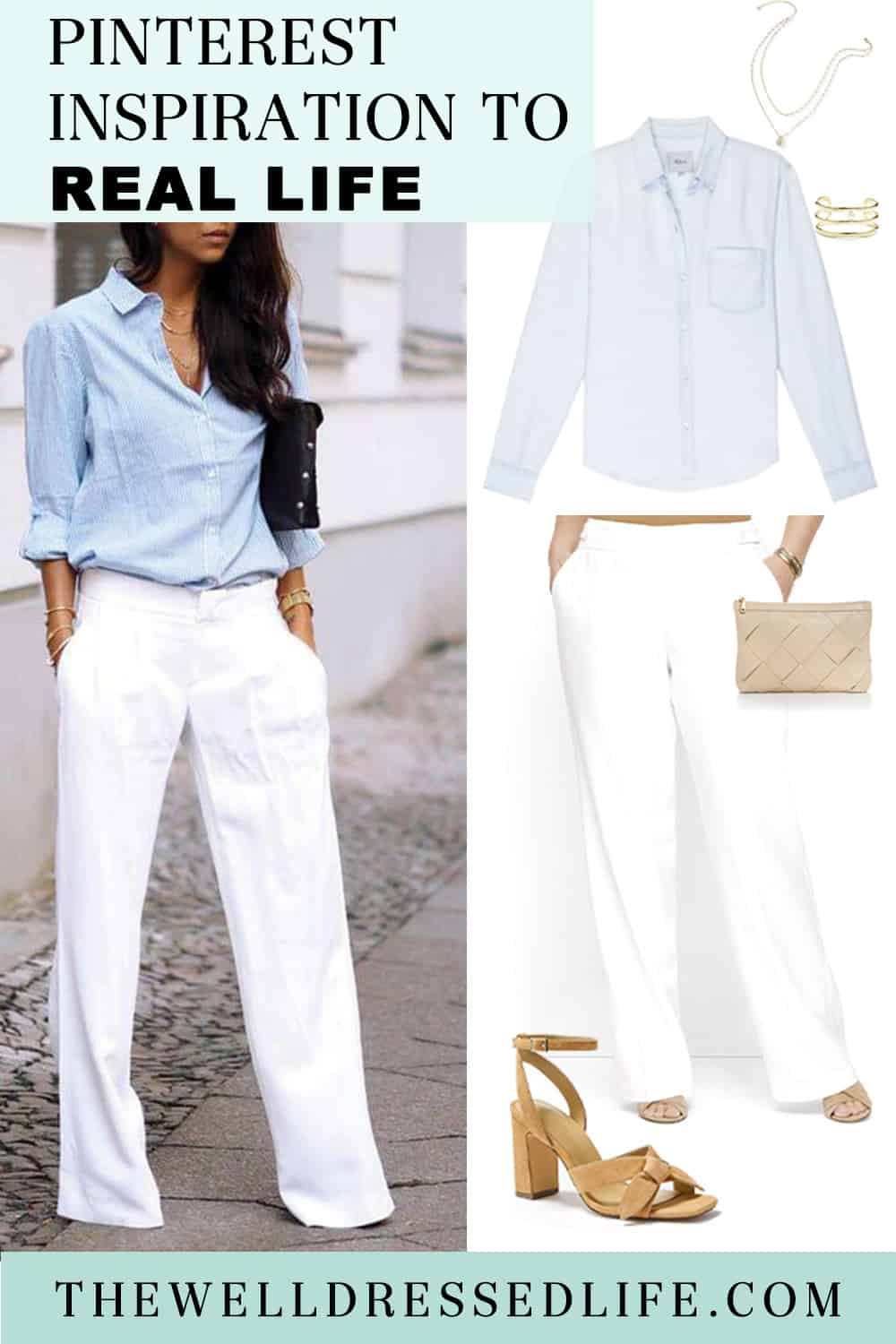 Pinterest in Real Life: Wide Leg White Pants