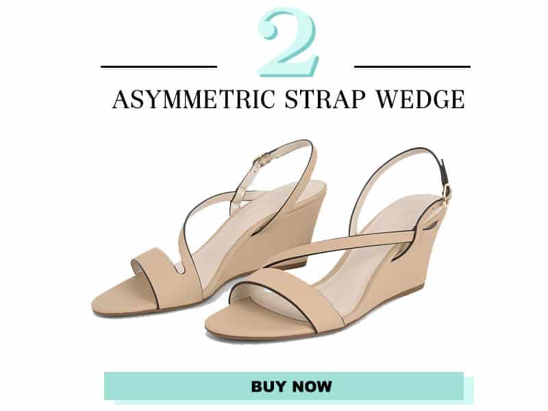 asymmetric strap wedge sandals