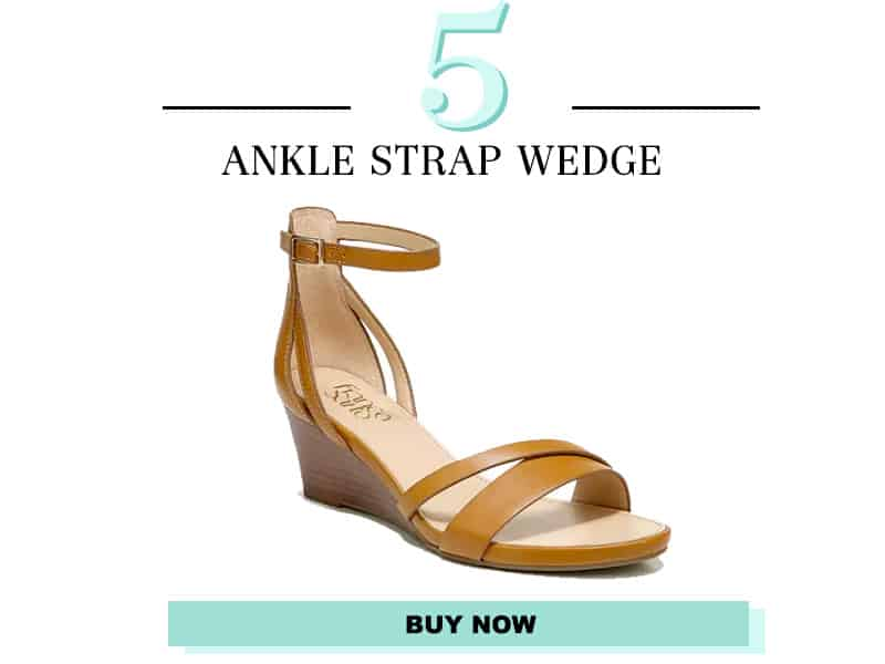 Franco Sarto tan wedge with ankle strap