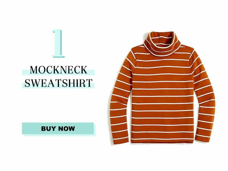 J. Crew Factory mockneck sweatshirt in adobe