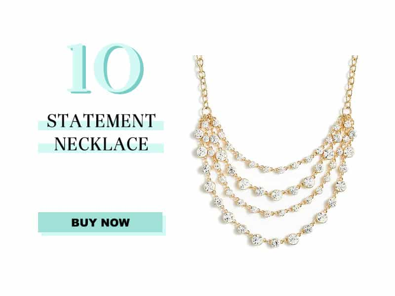 j.crew factory gold and crystal statement necklace