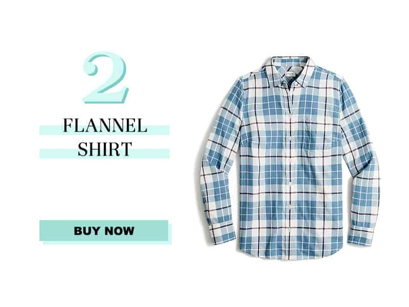 j.crew factory flannel shirt in blue and black