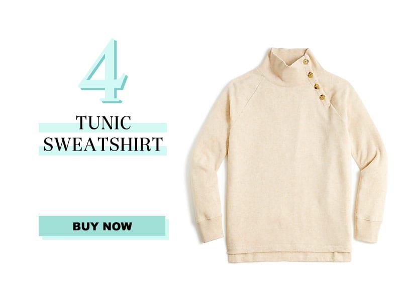 j.crew tunic sweatshirt