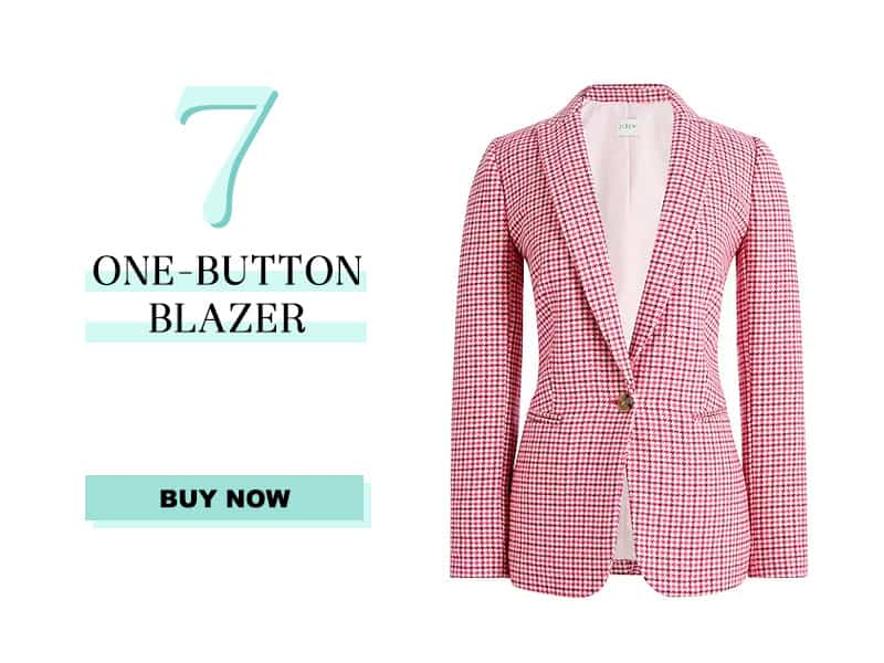 j.crew factory one button blazer