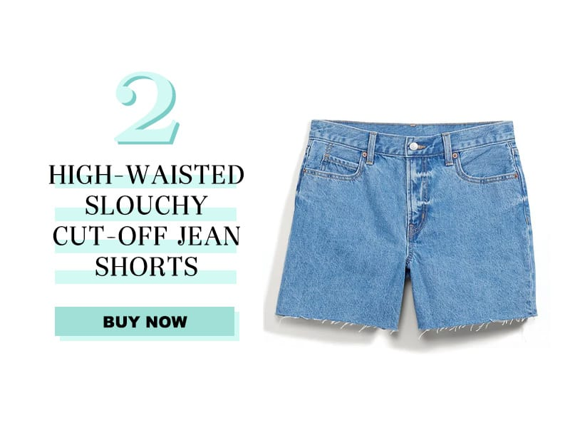 High-Waisted Slouchy Cut-Off Jean Shorts