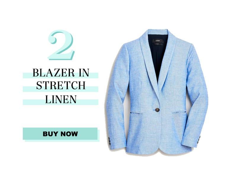 June Readers' Favorites: Blazer in Linen Stretch