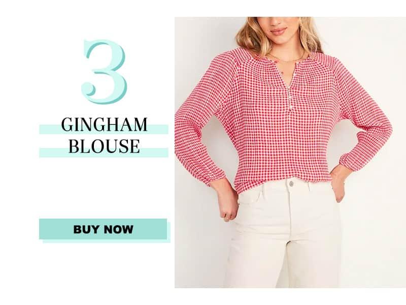 June Readers' Favorites: Gingham Blouse
