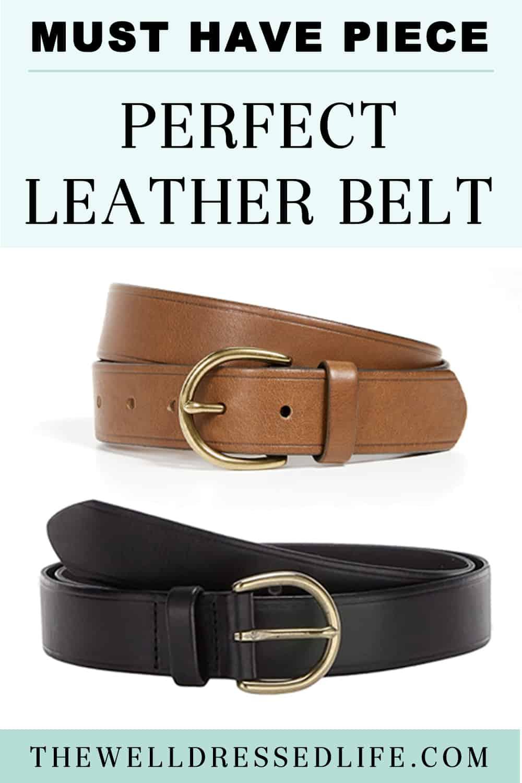 Basics Building: Perfect Leather Belt
