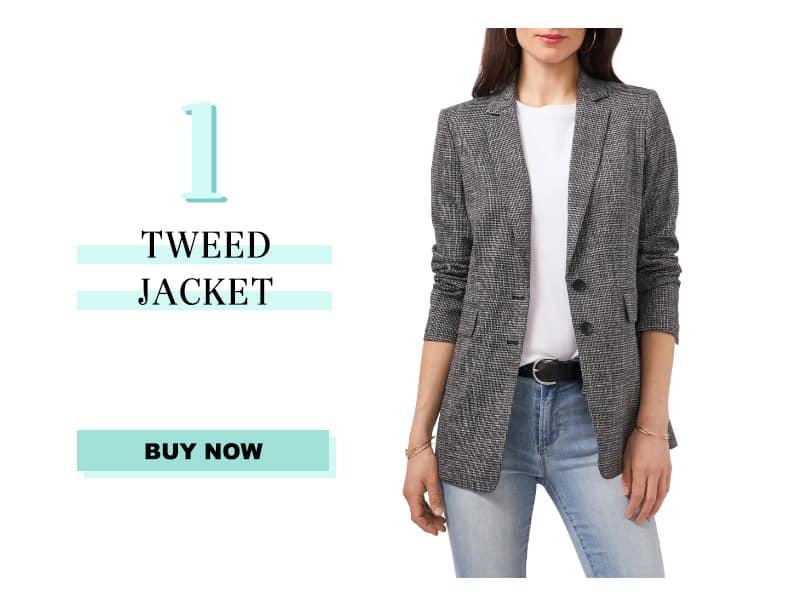 Vince camuto tweed jacket