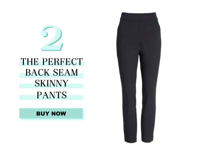 Spanx The Perfect Back Seam Pants in black