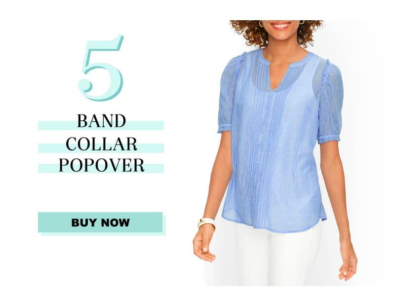 Talbot's Band Collar Popover