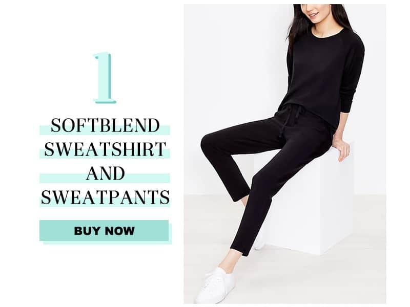 Lou & Grey Softblend Sweatshirt and Sweatpants