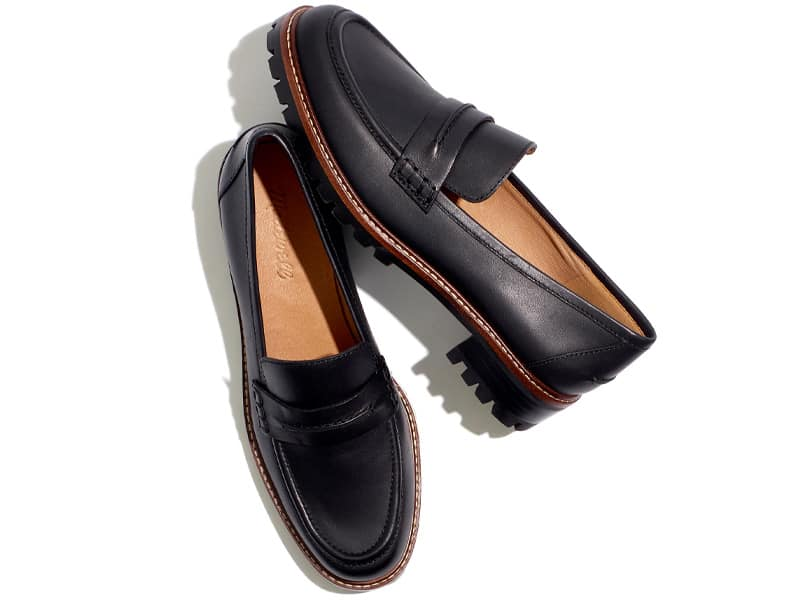 Madewell The Corinne Lugsole Loafer in Black