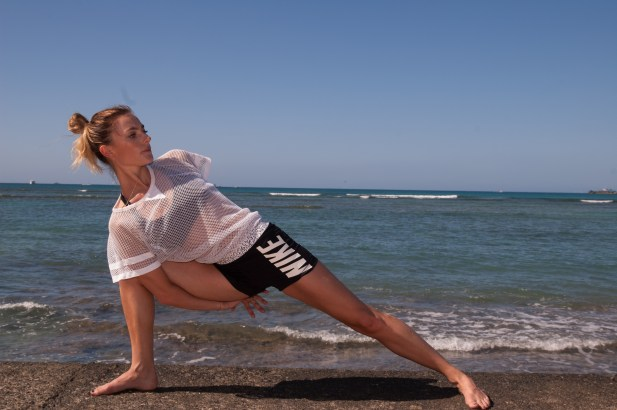 hawaii, stretch, yoga